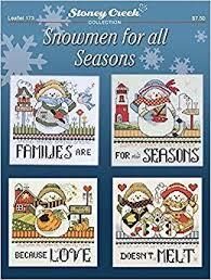 Chart On Winter Season Snowmen For All Seasons Leaflet 173 Cross Stitch Chart And
