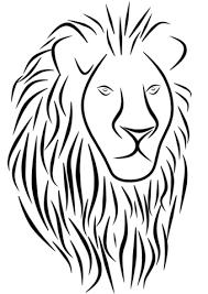 Disegno Di Tatuaggio Di Leone Da Colorare Disegni Da Colorare E
