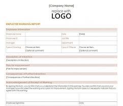 free employee warning forms employee warning form lobo black