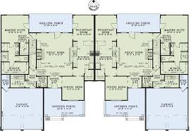 country craftsman multi family plan 82263 level one