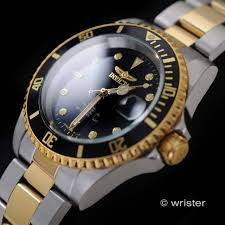 invicta pro diver steel black gold automatic date 200m men s watch automatic invicta pro diver 18k gold ip two tone black dial coin edge mens watch
