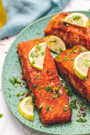 What is the recipe for cooking salmon? Easy Baked Salmon With Swet Spicy Dry Rub A Mind Full Mom