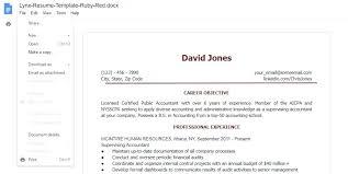 Google Docs Resume Template Create Your Resume Create My Resume Now