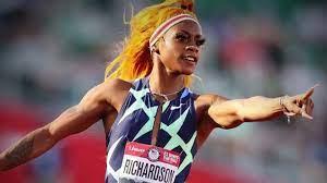 U.S. track star Sha'Carri Richardson ...