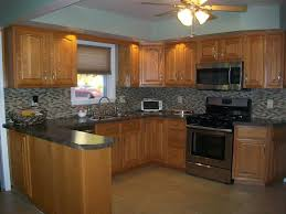 Image Of: Model Kitchen Wall Colors With Oak Cabinets Great Ideas