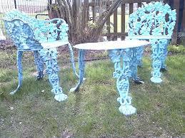patio cast iron furniture outdoor home design cool ideas vintage settee chair planter g antique garden