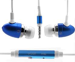 Sony Xperia L1 IN-EAR Blue <b>Stereo</b> Earphone Headphone ...