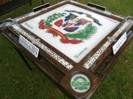 dominican republic domino table by domino tables by art with your name