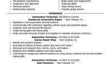 Auto Mechanic Resume Samples Yun56 Co Automotive Technician Examples