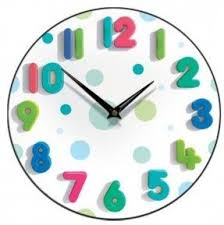 Childrens rooms kids wall clock spotty