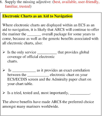 27 Sea Charts Exercises Admiralty Guide To Electronic