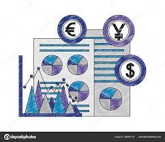 Business Document Yen Euro Dollar Chart Foreign Exchange