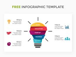 Free Infographic Template With Light Bulb Free Infographic