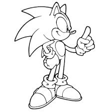 Sonic Hedgehog Kleurplaten Printen Leuk Voor Kids