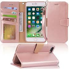 iphone 7 plus case iphone 8 plus case arae pu leather wallet case with