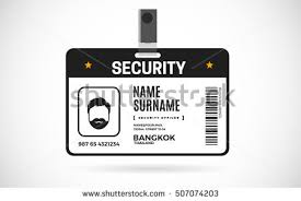 Event Security Id Card Set Lanyard Stock Vector 507074203 - Shutterstock