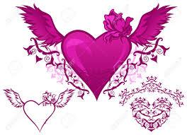 Beautiful Heart Design Set Of Beautiful Hearts Elements For Design