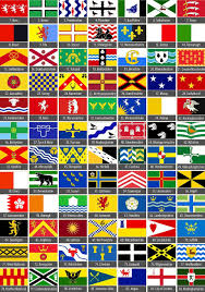 English County Flags Chart The County Flags Of The Uk Revealed From The Black Bear Of