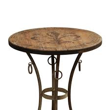 fleur de lis bar stools. Stylecraft Round Side Table Accent With Fleur De Lis Motif Painted Wood Top Bar Stools