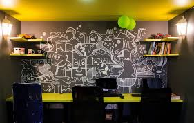 funky office decor. SutraHR Office Mumbai Wall Mural Funky Decor E