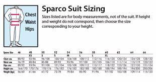 Omp Kart Suit Size Chart Sparco Suit Size Chart