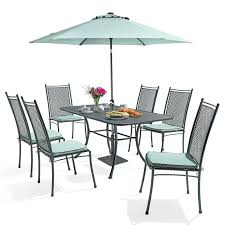 6 seater rattan table cover gardman to 8 round patio set green rectangular 4 dining with