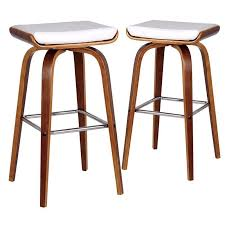 new set of 2 white ruby barstools