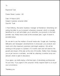Cover Letter For Business Proposal Examples Cover Letter Example For