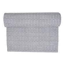 grey patterned washable cotton rug