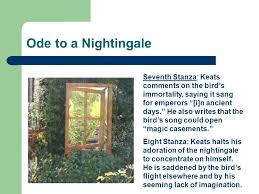 john keats ode to a nightingale ppt ode to a nightingale