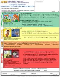 Asthma Action Plan Tool Fip Foundation