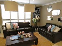 dark furniture living room. Ellie: Ideas For Colours To Use With Our Brown Leather Couch. Lobe The Natural Floor Rug Too. Find This Pin And More On Dark Furniture Living Room C