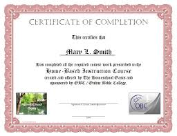 sample certificates of completion certificate of completion certificate of
