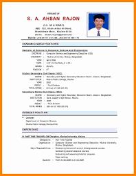 Faculty Resume Sample Elegant 5 Indian Sample Cv Simple Resume