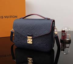 lv louis vuitton pochette metis bags m44071 leather handbags black red imitation