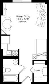 Small One Bedroom Apartment Small Apartment Floor Plans One Bedroom