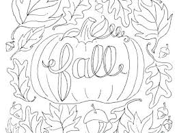 Fall Coloring Pages Printable Free For Kids Sheets Adults Advanced F