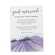 Announcement Cards Wedding Amazon Com Just Married Lavender Farm Elopement