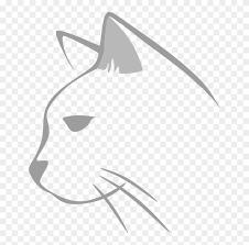 Cat Line Art Kitten Drawing Silhouette Cat Head Drawing Black