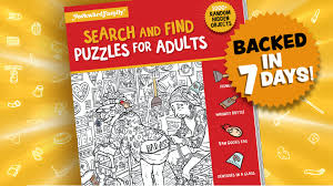 Great collection of jigsaws and math puzzles, mysterious mazes and labyrinths, intriguing visual logic games, easy handwriting worksheets and spot the difference activities, crosswords for kids, guess the word, rebuses, word search and many other brain teasers. Search And Find Puzzle Book For Adults By Awkward Family Photos Kickstarter