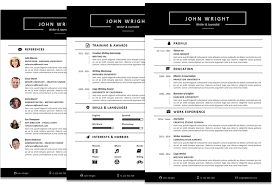 Microsoft Office Resumes John Wright Resume Template Fullwidth
