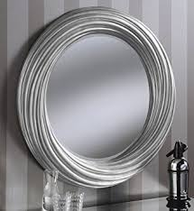 Small Picture Adele Large Round New Modern Wall Mirror Silver Frame Art Deco