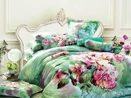 fresh inspiration fl comforter sets queen green bedding set king size duvet cover bedspread sheets bed in a bag sheet quilt linen 100 cotton bedclothes