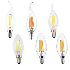 filament candle led bulbs chandelier e12 e14 e27 base lamp c35 torpedo shape bullet top candelabra light bulb cob led filament flame tip edison filament