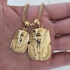 missjewelry 18k gold plated custom stainless steel pharaoh pendant