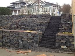 Small Picture Gabion Retaining Wall Design Entrancing Gabion Walls Design Home