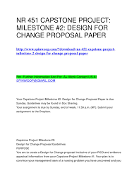 Capstone Project Milestone 2 Design For Change Proposal Guidelines Nr 451 Capstone Project Milestone 2 Design For Change