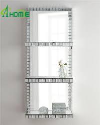 set of 2 rectangle small wall decor hangle mirror