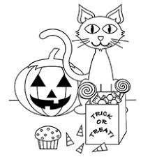 halloween coloring pages with cats