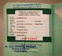 Turkey visa   My 30 day transit visa for the Turkey   Kamran Ali